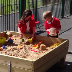 sand pit sensory playground