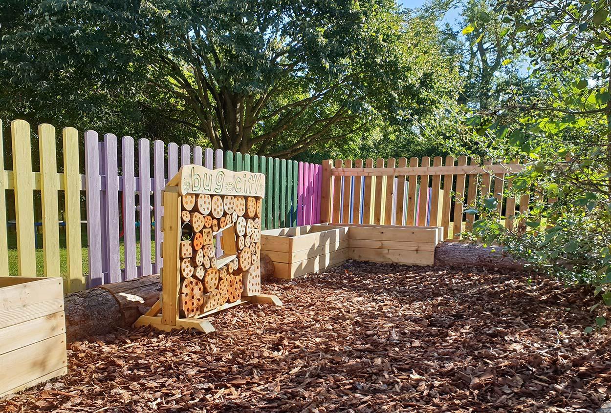 outdoor playground equipment bug city play area