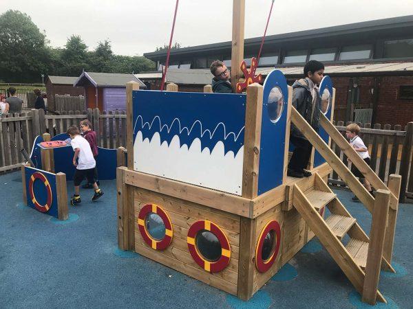 outdoor playground equipment pirate ship