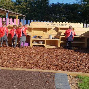 outdoor playground equipment messy area