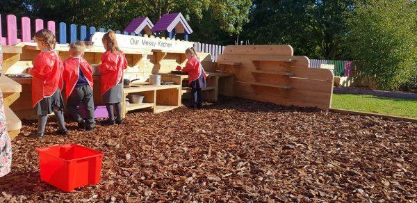 bark outdoor playground surfacing