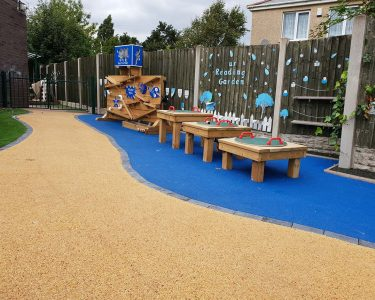 outdoor playground for schools water wall