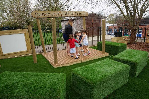 outdoor playground equipment stage