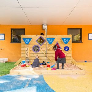 sand wall sensory playground equipment