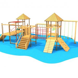 Falcon Island Challenge climbing wall and climbing frame