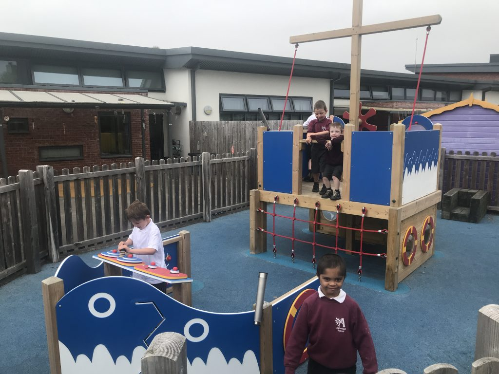 wooden pirate ship for playground