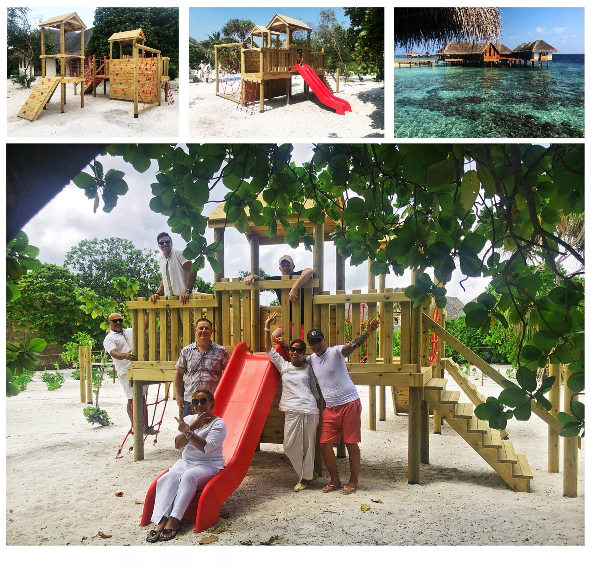 maldives outdoor playground equipment project red monkey play