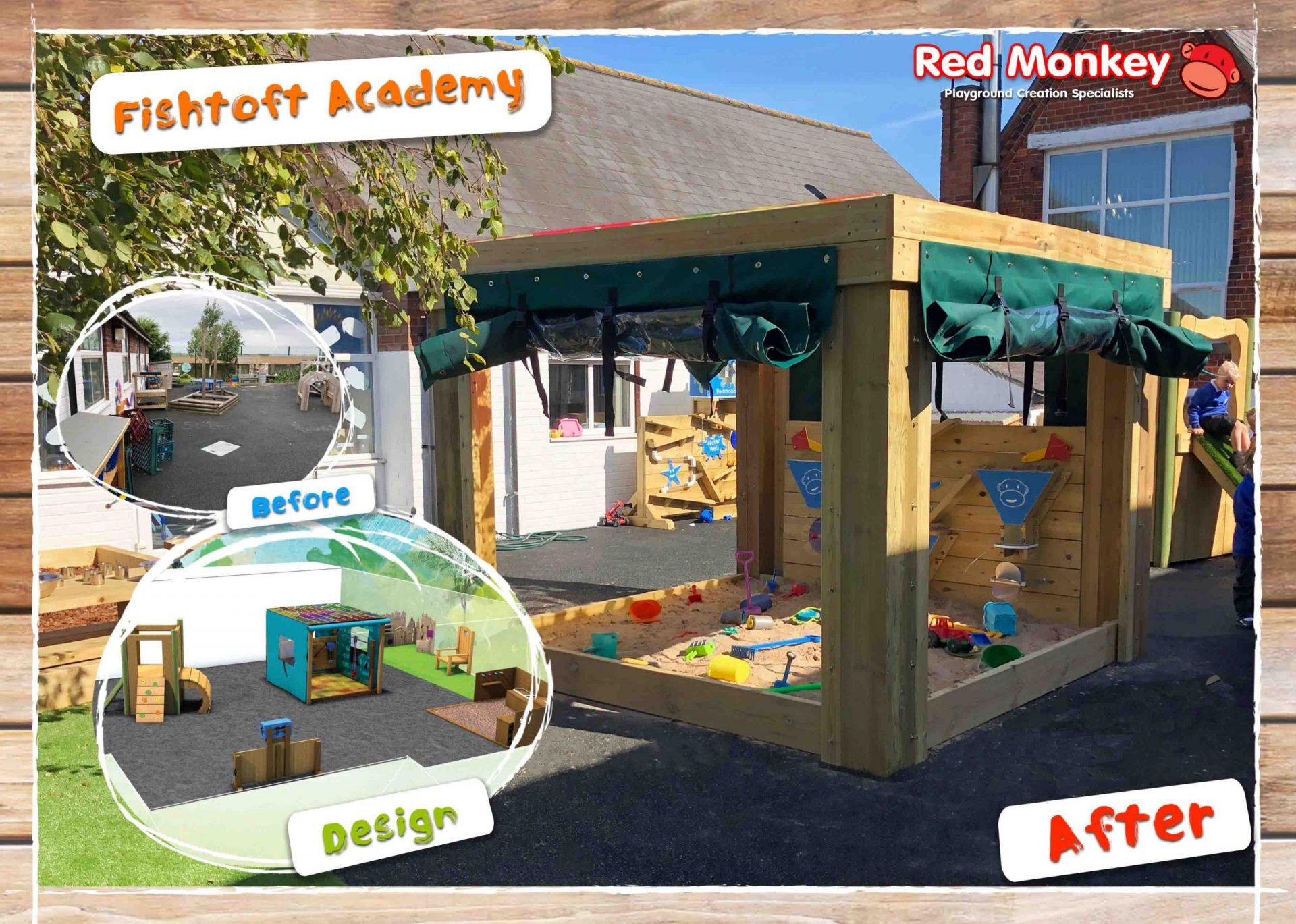 Fishtoft Academy sand pit sensory play