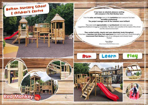 Fishtoft Academy outdoor playground climbing frame mockup
